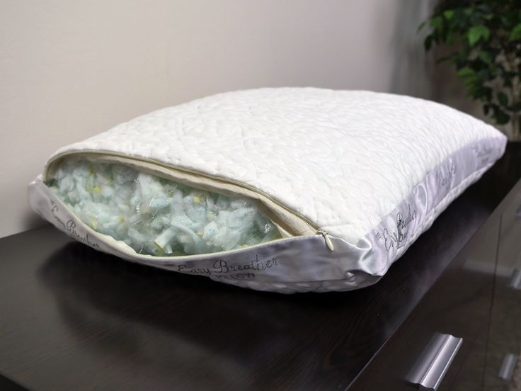 Nest Bedding Easy Breather pillow - exceptional for side sleepers of varying body types, weights, and preferences due to easy adjustability