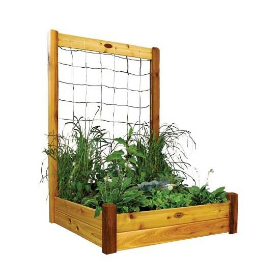 DIY Raised Garden Kits: Like your food better if it comes from your own backyard? We do, too. That's why we love the Gronomics Raised Garden Bed with Trellis Kit so your vegetables can grow out and tall, expanding your production.