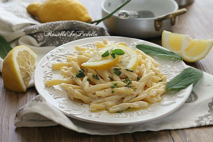 Trofie al limone cremose, ricetta primo piatto facile