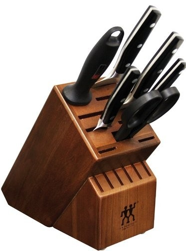 Zwilling Henckels Twin Profection Knife Block 7 Piece with Beechwood Block