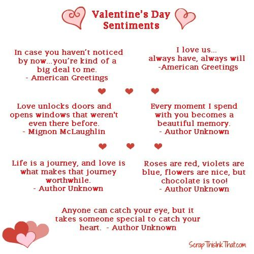 nice sayings for valentines day