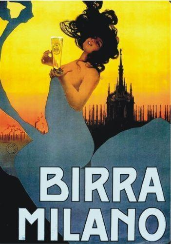 TARGA VINTAGE  1920 BIRRA MILANO  PUBBLICITA ,ADVERTISING,POSTER, PUB PLATE, BAR