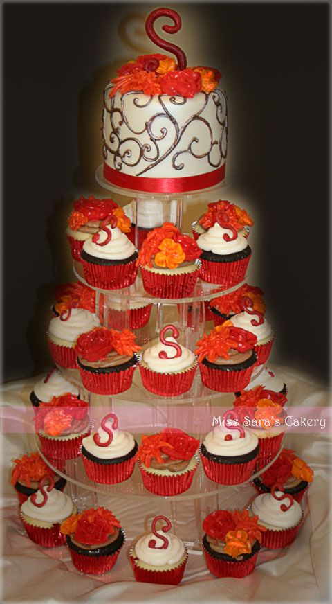 fall wedding cakes with cupcakes 1000 ideas about wedding cupcake towers on 14171