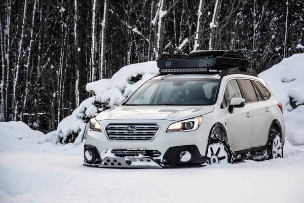 """Make:SubaruModel:Outback 3.6R Limited PackageYear:2017Color:Crystal White Pearl    Modifications:  Tires:245/65R17 BFGoodrichAll Terrain T/A KO2  Wheels: Fast WheelsFC-01 17x8+40 - Discontinued  Lift kit:2"""" LP Aventure  Skid plate:LP Aventure  Bumper Guard:LP Aventure(small model)  LED bar: RTXline31.5"""" (28 800 Lumens) + RTXline 19.9"""" (20160 Lumens)  Cargo basket:Yakima Load Warrior + Extension + Spare Tire Carrier"""
