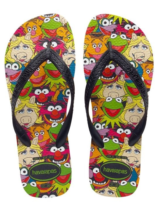 Pair up with Miss Piggy, Animal & Kermit the Frog with Muppets Havaianas