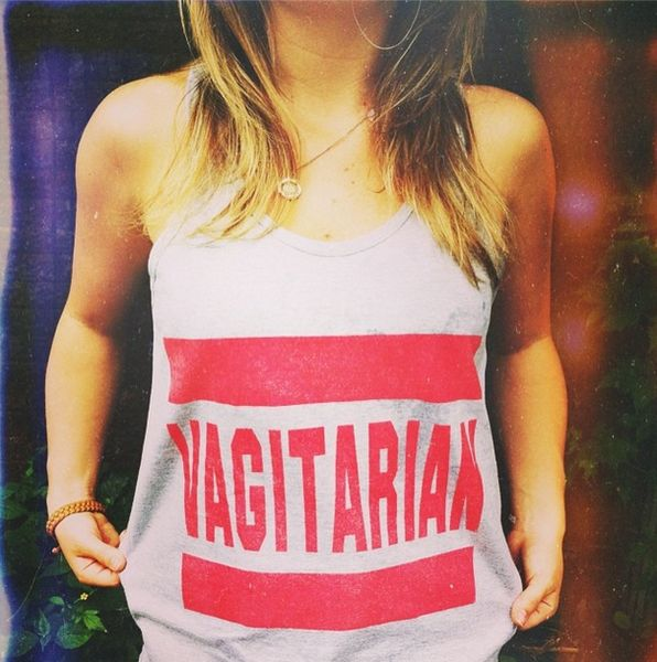 Vagitarian tank top **Unisex size – women may prefer to order one size down** Description • 2408Fine Jersey Unisex Tank 100% Cotton, Heather Grey contains 10% Polyester. #tshirt #fashion #gayclothes #lesbiantshirt #lesbianfashion #lesbian #lesbisch #kleding #vagitarian #tanktop
