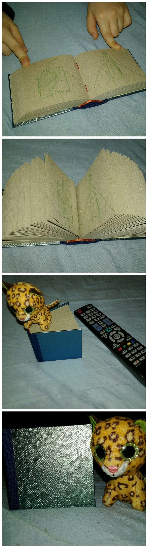 """Kisfiam kért egy """"pici könyvet"""",amibe tud rajzolni.Mert mintha eddig nem lett volna mibe rajzolnia. :) Zöld kaméleon tábla,nátron csomagoló lapok."""