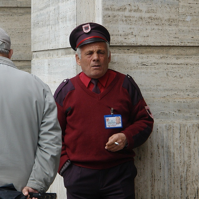 Tirana - uniform- parking attendant by CharlesFred, via Flickr