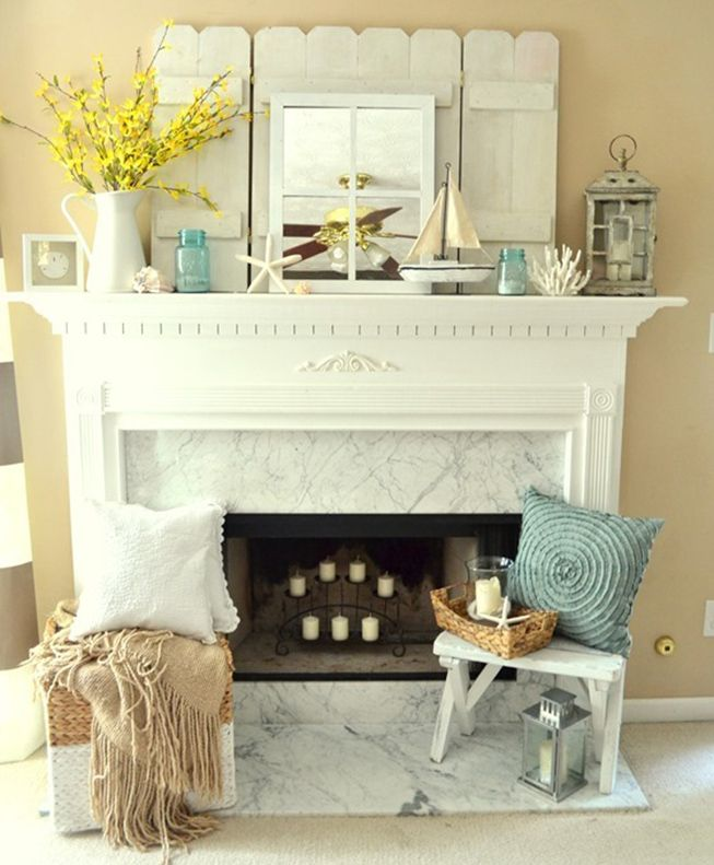 10 Beach House Decor Ideas: Best 25+ Fireplace Mantel Decorations Ideas On Pinterest