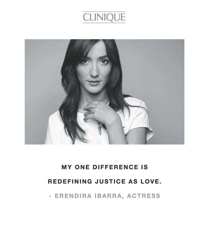 """My one difference is redefining justice as love."" -Erendira Ibarra, actress"