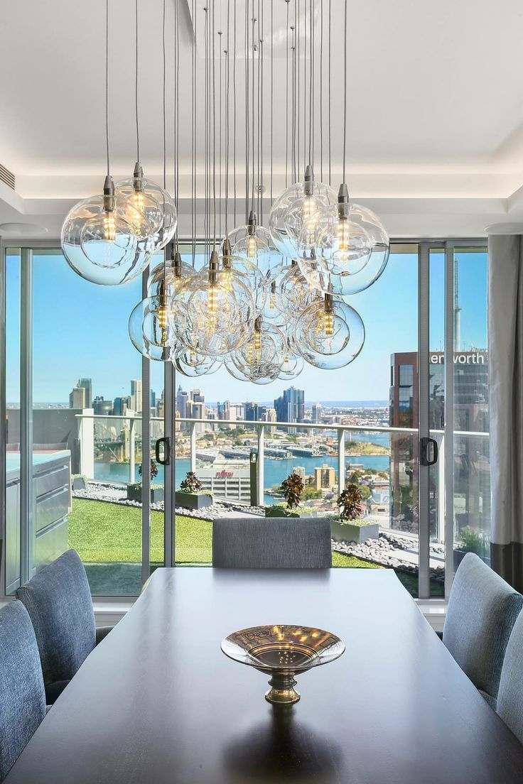 North Sydney Penthouse Dining Room, designed by Jodie Carter Design. Photo by Savills Real Estate, Double Bay