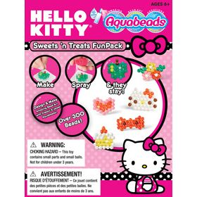 A great introduction to Hello Kitty Aquabeads! This set includes over 300 jewel and white classic beads, 4 mini templates, mini layout tray, mini bead case and mini spray bottle. Have fun using the enclosed templates, or create your own amazing bead art creations. Set also includes instructions with 5 additional templates.