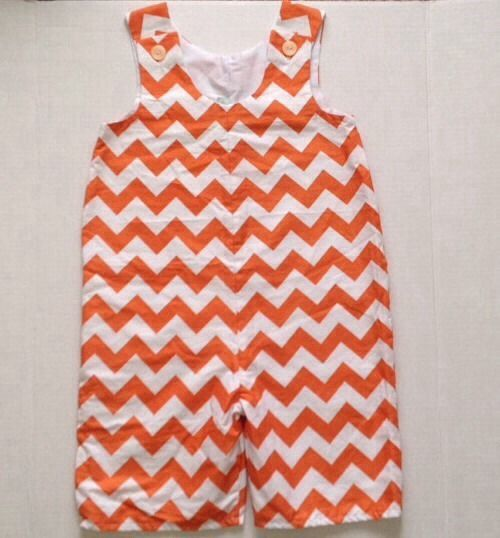 Lolly Wolly Doodle Twins Orange Chevron Outfit Romper Jumpsuit Shortall 4 | eBay