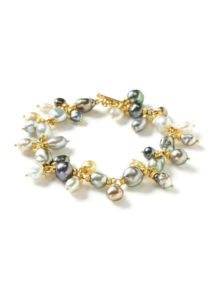 Erica Courtney - Multicolor Freshwater Keshi Pearl Drop Bracelet