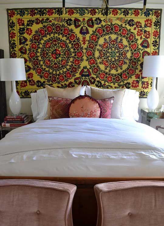 17 Best Ideas About Tapestry Headboard On Pinterest