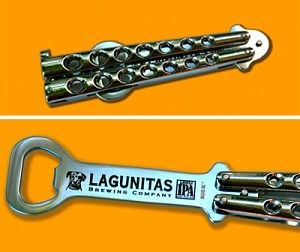 Butterfly beer bottle opener...well done, Lagunitas, well done indeed.