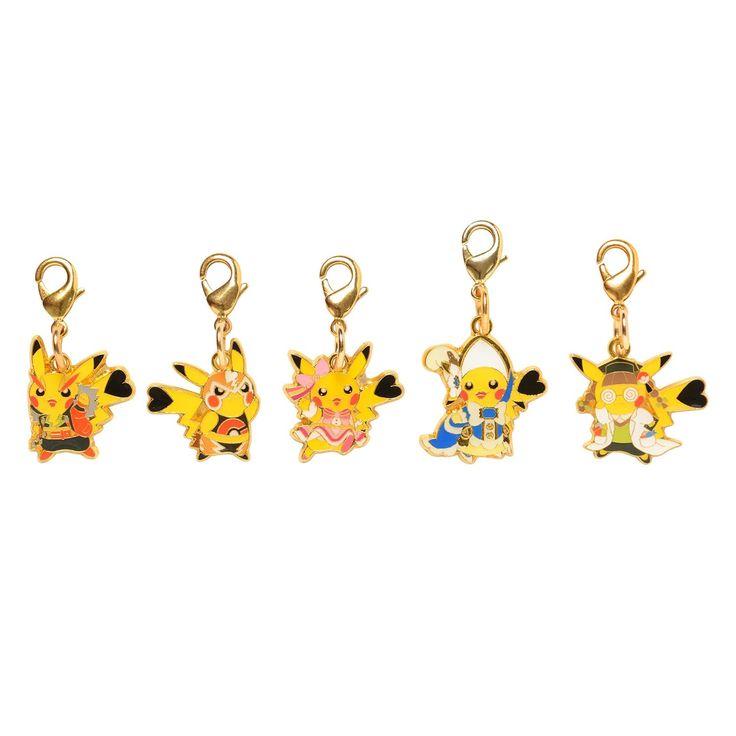Amazon.co.jp | ポケモンセンターオリジナル メタルチャームセット おきがえピカチュウ | おもちゃ 通販