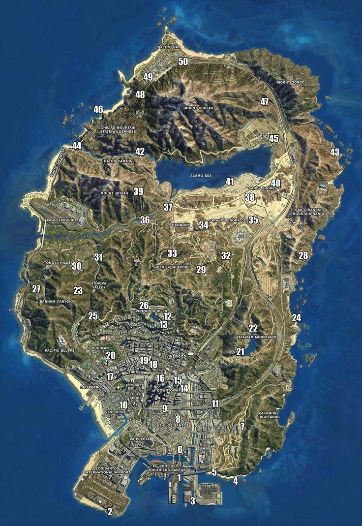 GTA 5 - Mapa Localização Fragmentos de Nave Espacial