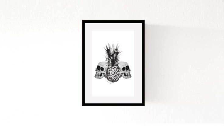 'Skulls & Pineapple' ©Morgan Connoley http://colourandskulls.bigcartel.com/