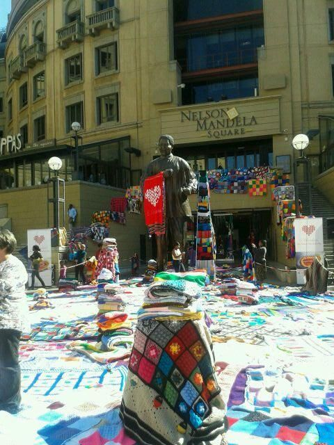 """@NelsonMandelaSq: The Square is a buzz  this afternoon with people knitting away for a good cause. #67blankets. pic.twitter.com/2xhr47L398"""