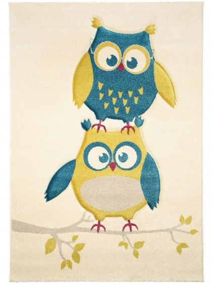 Kinderteppich Freche Eule Blau #benuta #teppich #interior #kinderteppich