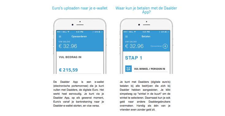 Daalder: De startup die je bankpas overbodig maakt  Daalder is een Nederlandse startup die zich richt op het mogelijk maken van betalingen door middel van je smartphone. De fintech-startup staat daarbij geheel los van banken of andere grote betaaldiensten en ontving afgelopen september een investering van 400.000 euro.  Hoewel het in het buitenland al mogelijk is om bijvoorbeeld met Apple Pay via je smartphone te betalen blijft Nederland nog vrij achter in deze ontwikkeling. Daalder wil hier…