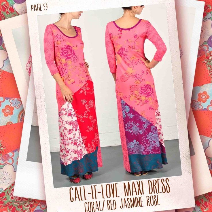 Call-it-Love maxi dress in Coral/ red Jasmine Rose