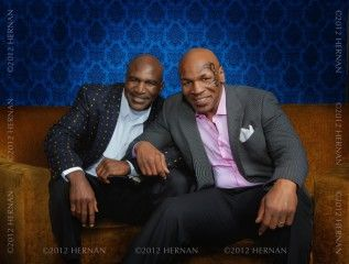 """Evander Holyfield and Mike Tyson Pictured Together at """"Undisputed Truth"""" in Vegas"""