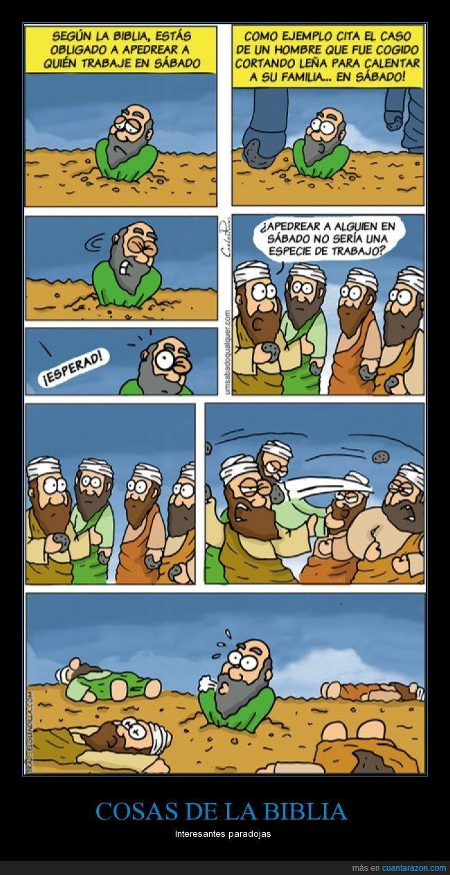 COSAS DE LA BIBLIA - Interesantes paradojas   Gracias a http://www.cuantarazon.com/   Si quieres leer la noticia completa visita: http://www.estoy-aburrido.com/cosas-de-la-biblia-interesantes-paradojas/