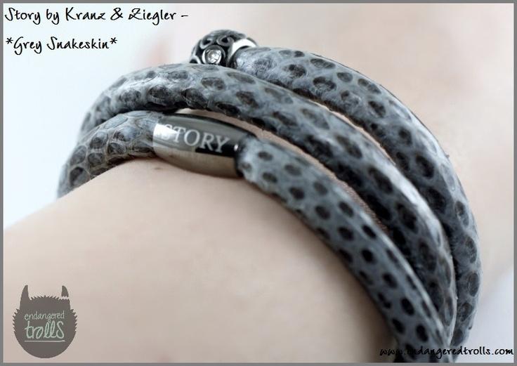 Story by Kranz & Ziegler Grey Snakeskin Bracelet
