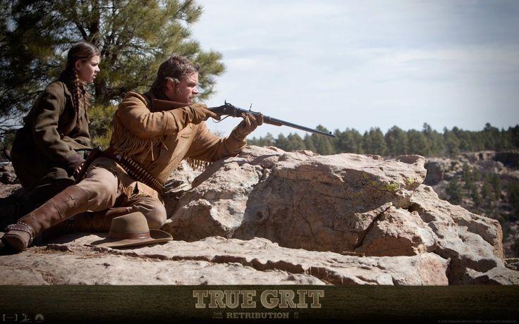 Movie True Grit (2010)  Hailee Steinfeld Matt Damon Wallpaper