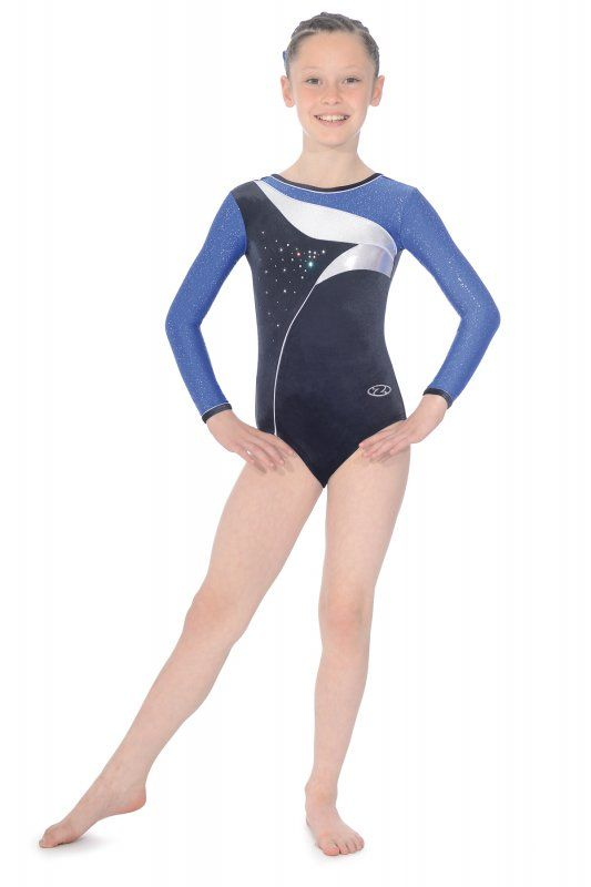 The Cosmic long sleeved gymnastics leotard from The Zone. A…