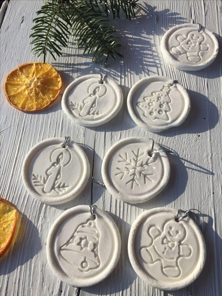 Home made christmastree ornaments -baking soda