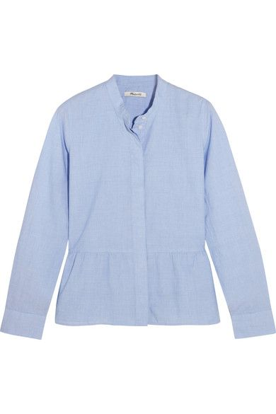 Sky-blue cotton  Concealed button fastenings through front  100% cotton Machine wash  Designer color: Waterfall  Imported