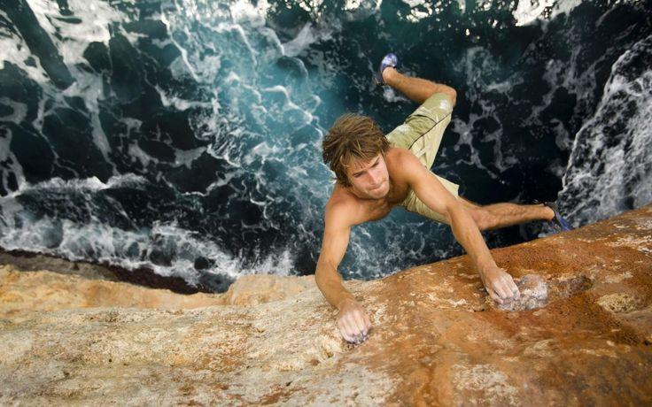 Rock Climbing Sport Hd Wallpaper Background