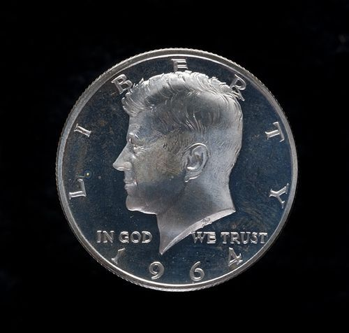A coin representing Kennedy was conceived the very day of his assassination. Within hours of the assassination, Director of the Mint Eva Adams spoke with Chief Engraver Gilroy Roberts about depicting Kennedy on a coin. First Lady Jacqueline Kennedy selected the half dollar for the coin's denomination. #JFK50