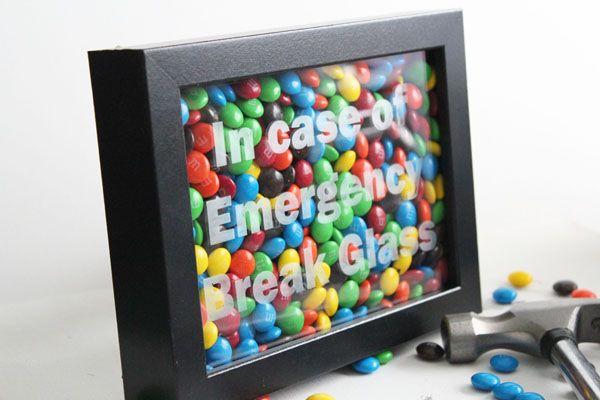 In Case Emergency Break Glass Craft Homemade Gift Ideas