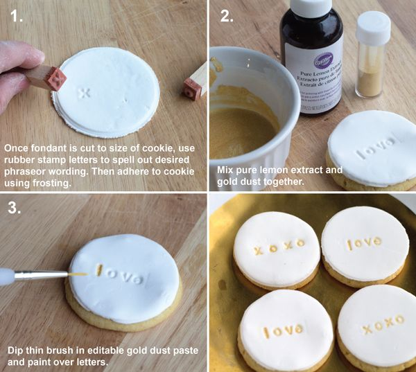 how to make stamped cookie wedding favors