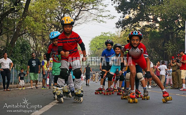 "Roller Skating in Park Street , ""Happy Street"" event 