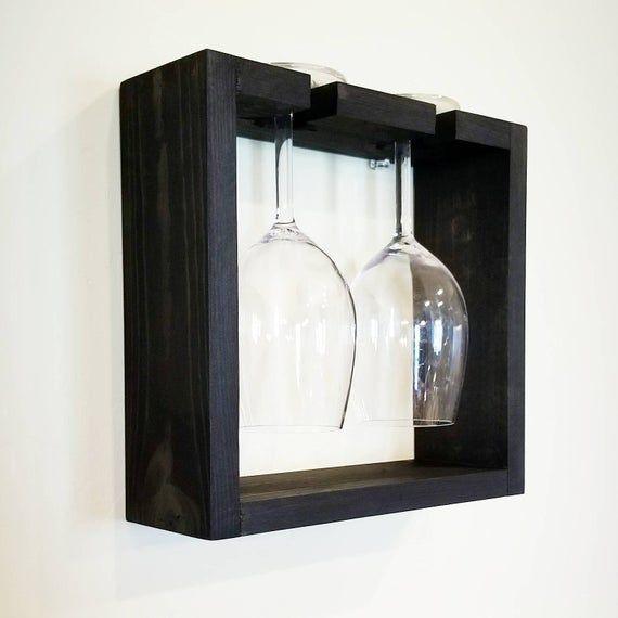 Floating Wine Glass Holder. Unique Wine Rack Storage. Wine glass holder, Wine Ra…   – Products