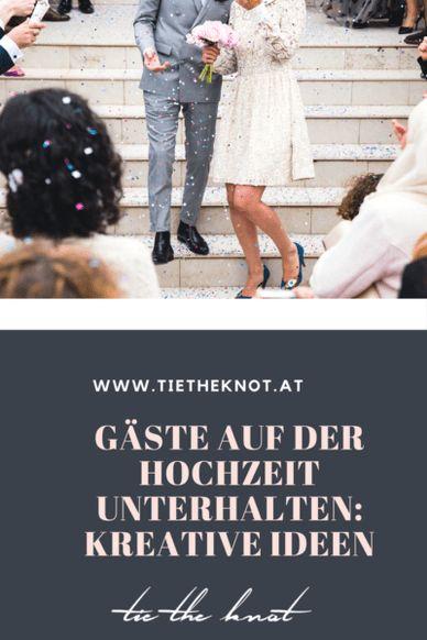 Gäste auf der Hochzeit unterhalten: Kreative Ideen