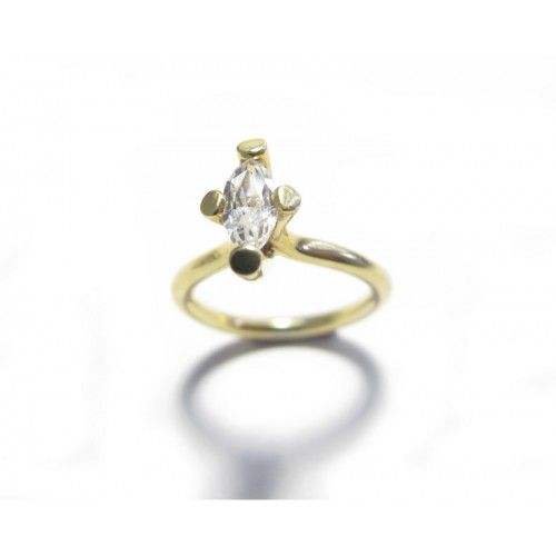 Marquise Diamond engagement ring design. 18ct yellow gold ring.