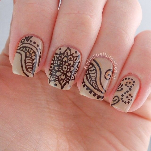 Lifeisbetterpolished Nail Art Pinterest Nails Henna Nails And