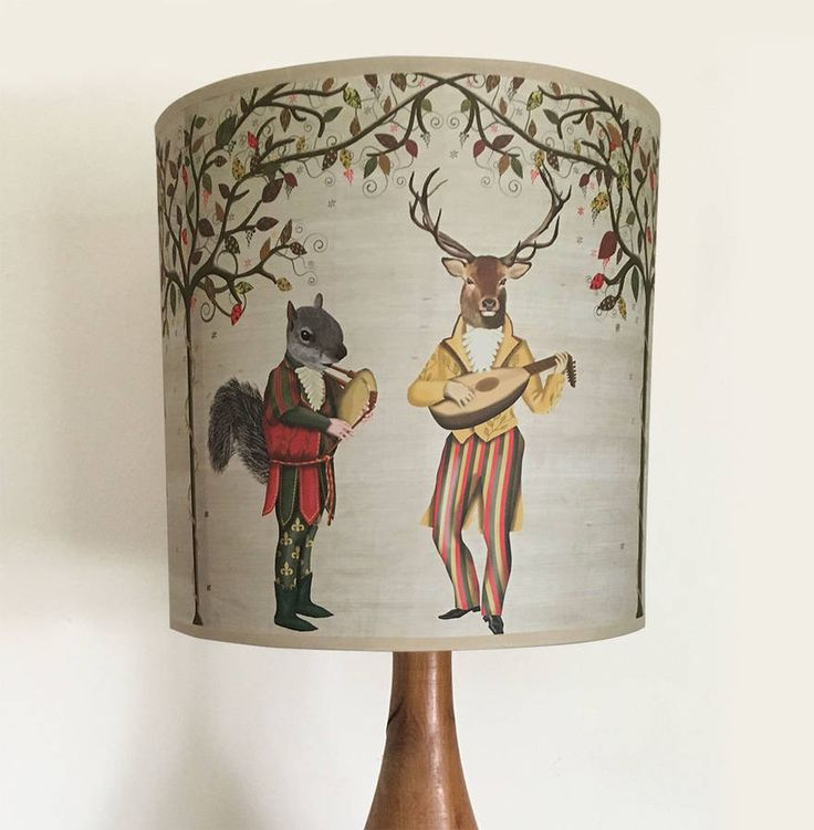 202 best light shades images on pinterest lamp shades light woodland minstrels lampshade greentooth Image collections
