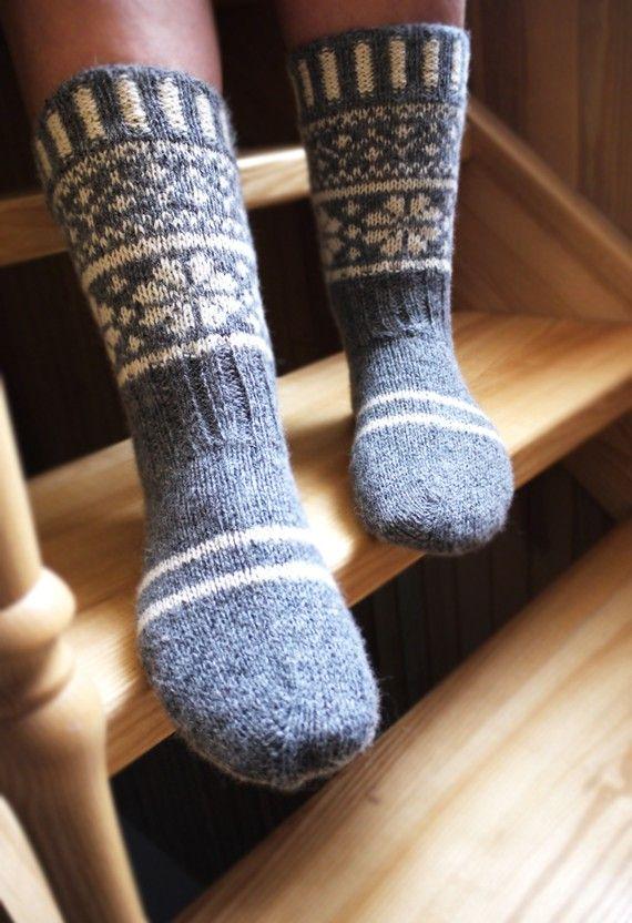 Pure wollen sokken! Yeah, die wil ik zelf leren breien! - -  socks!