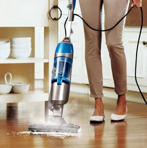 Get double the clean with the Bissell® Symphony™ All-in-One Vacuum and Steam Mop. This multitasking floor cleaner steam mops and vacuums in tandem or individually for the perfect clean every time. An ideal alternative to a mop, the vacuum gets rid of dirt and dust while the steam cleaner takes care of 99.9% of germs and bacteria without using harsh chemicals. A 5-way adjustable handle and quick-release mop pad makes cleaning a cinch every time. Works on hardwood, tile, and linoleu...