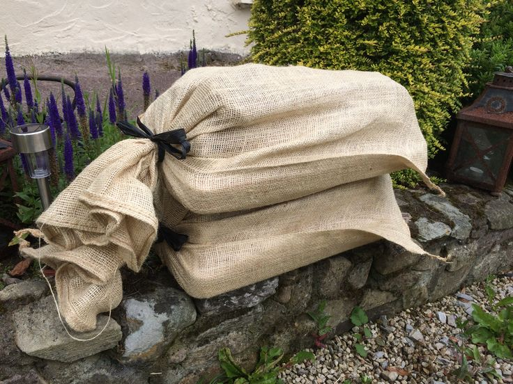 Our Personalised Garden Swings are packaged in a hessian Sack.