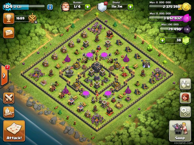 Hi guys, These days, I have received lots of requests for a edge obstacle spawning layout. Luckily, I have found this one – Crows, which was designed by Aphrodi. Not only for edge obstacle spawning, this layout also has an impressive protection for the core, where Town Hall and the Dark Elixir Storage are located. …