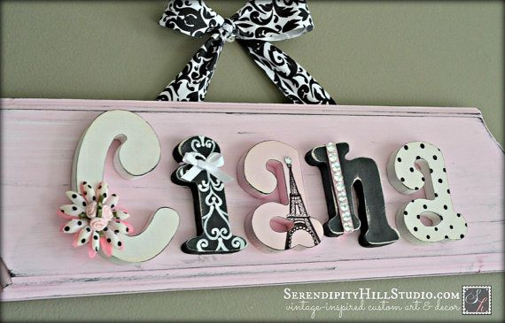 Custom name plaque  made to order wall by SerendipityHillShop, #paris…