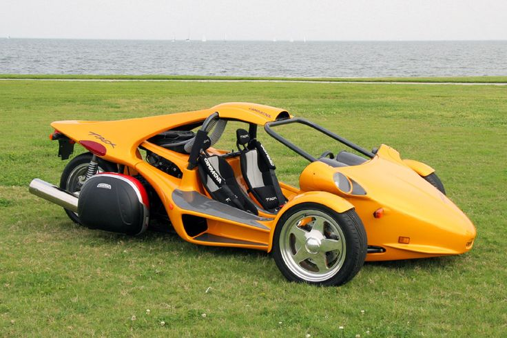 T Rex Motorcycle | Red T-rex motorcycle on the road.It's smaller than car and easy to ...